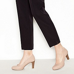 Good for the Sole - Nude patent 'Gala' high wide fit court shoes