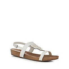 Good for the Sole - White 'Giacinta' wide fit ankle strap sandals