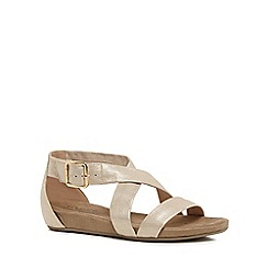 Good for the Sole - Metallic 'Giselle' wide fit ankle strap sandals