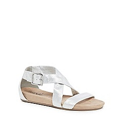 Good for the Sole - Silver 'Giselle' wide fit ankle strap sandals