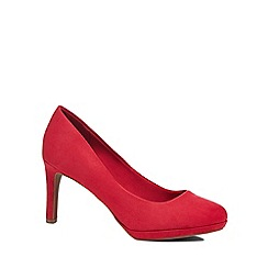 The Collection - Pink suedette 'Callie' high stiletto heel court shoes