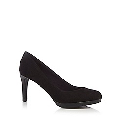 The Collection - Black suedette 'Callie' high heel court shoes