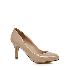 The Collection - Nude patent 'Burdot' high stiletto court shoes