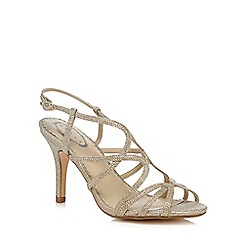 Debut - Gold glitter high heel wide fit sandals