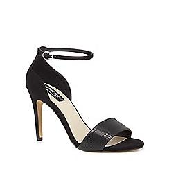 Principles by Ben de Lisi - Black 'Bonni' High stiletto heel ankle strap sandals