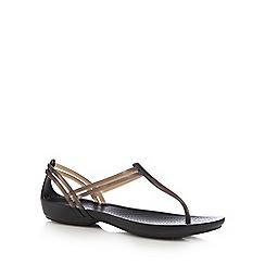 Crocs - Black 'Isabella' t-bar sandals