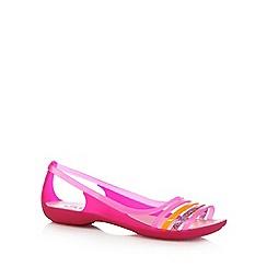 Crocs - Pink 'Isabella Huarache' flip flops