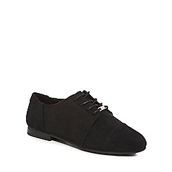 Call It Spring - Black suedette 'Thenadda' brogues