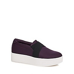 Call It Spring - Purple 'Traredda' flatform slip-on trainers