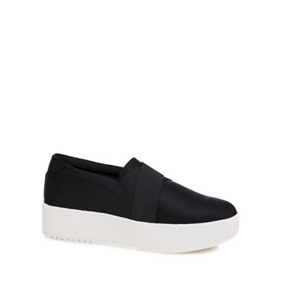 Call It Spring - Black 'Traredda' flatform slip-on trainers