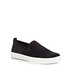 Call It Spring - Black suedette 'Fiamma' slip-on trainers