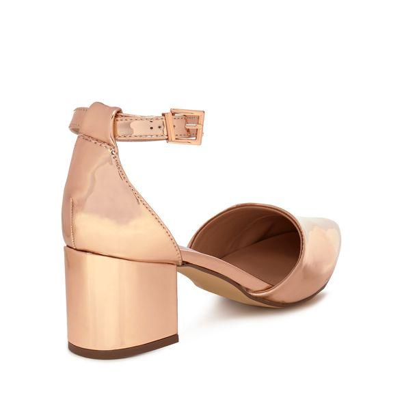 mid Spring sandals Call 'Trivio' block ankle gold Metallic It heel strap qvpZa