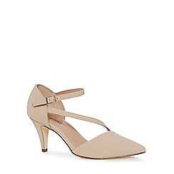 Call It Spring - Nude 'Migiana' mid kitten heel ankle strap sandals