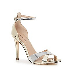 Call It Spring - Gold 'Kaneloa' high stiletto heel ankle strap sandals