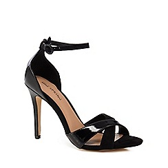 Call It Spring - Black 'Kaneloa' high stiletto heel ankle strap sandals
