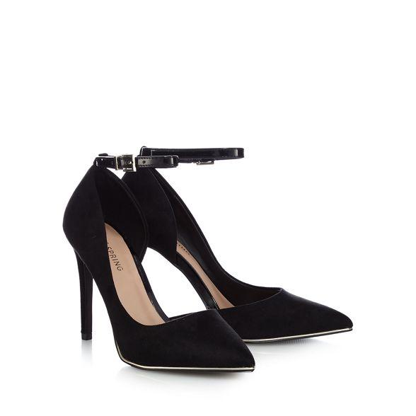 high Call stiletto heel It pointed 'Exerina' shoes Spring Black suedette wwafxXZq