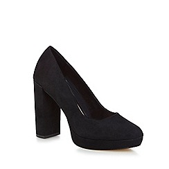 Call It Spring - Black suedette 'Frantoio' high block heel court shoes