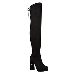 Call It Spring - Ladies stretch over the knee platform block heel boots
