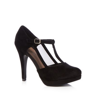 Navy suedette 'April In Paris' high stiletto heel T-bar shoes collections cheap price free shipping low cost RM7l4Ka