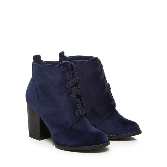 Spring It high boots heel Call ankle 'Afaeni' velvet Blue block awTdOdA5qx