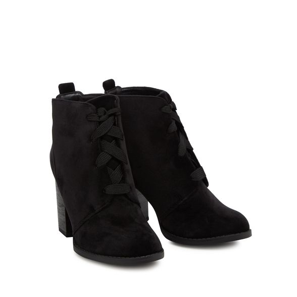 heel It block ankle Black boots velvet 'Afaeni' high Spring Call 0wqBHTUq