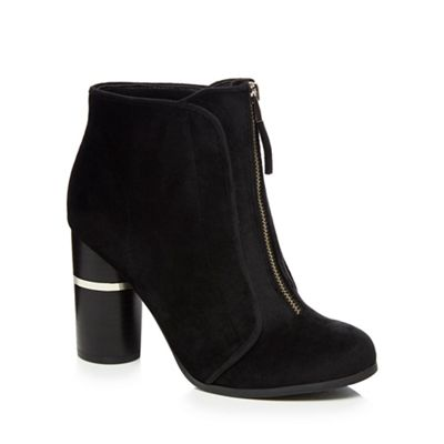 Call It Spring   Black Velvet 'kalivas' High Block Heel Ankle Boots by Call It Spring