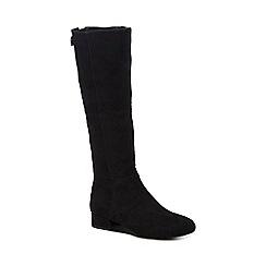 Call It Spring - Black suedette 'Abert' mid block heel knee high boots