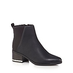 Call It Spring - Black 'Nunalla' mid block heel ankle boots