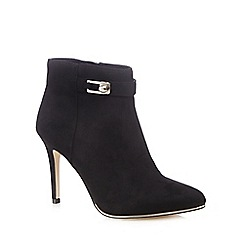 Call It Spring - Black suedette 'Lovealian' high stiletto heel ankle boots