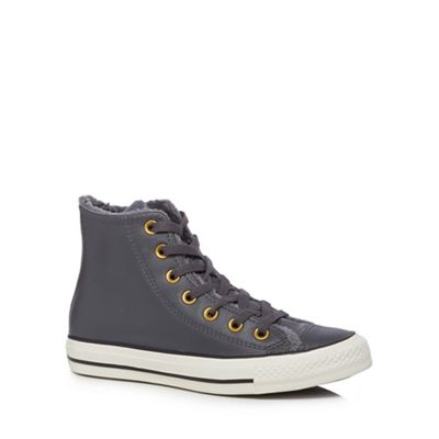 Converse - Grey leather 'All Star' high tops