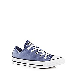 Converse - Blue velvet 'All Star' lace-up trainers