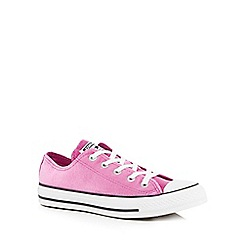 Converse - Pink velvet 'All Star' lace-up trainers
