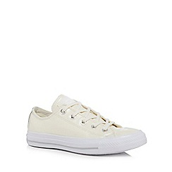 Converse - Cream leather 'All Star' lace up trainers