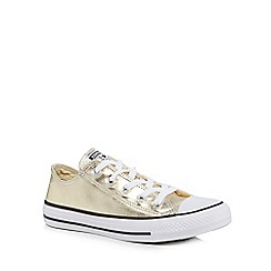 Converse - Gold 'All Star' metallic trainers