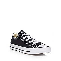 Converse - Black canvas 'All Star' lace up trainers