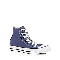 Converse - Navy canvas 'All Star' high tops