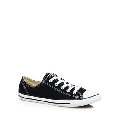 Converse - Black canvas 'Dainty' trainers