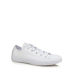 Converse - White canvas 'Chuck Taylor All Star' lace up trainers