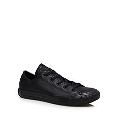 Converse - Black leather 'Chuck Taylor All star Ox' trainers