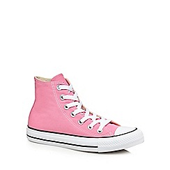 Converse - Pink canvas 'All Star' high tops