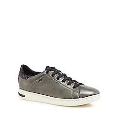 Geox - Grey leather 'Jaysen' trainers