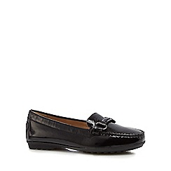Geox - Black leather 'Elidia' loafers