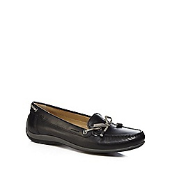 Geox - Black 'Yuki' slip on moccasins