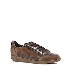 Geox - Brown 'Myria' lace-up trainers