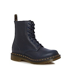 Dr Martens - Navy leather 'Pascal' lace-up boots
