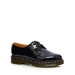 Dr Martens - Black leather patent '1461' lace-up shoes