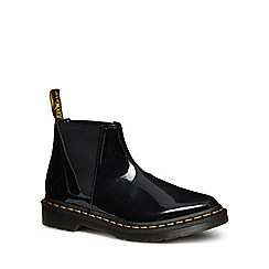 Dr Martens - Black leather patent 'Bianca' Chelsea boots