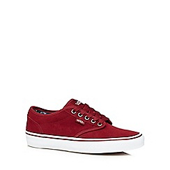 Vans - Bright red suede 'Atwood' trainers