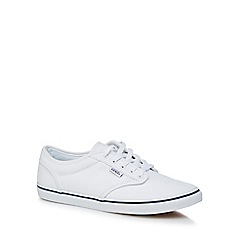 Vans - White canvas 'Atwood' lace-up shoes