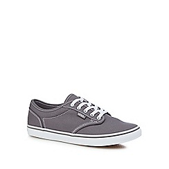 Vans - Grey canvas 'Atwood' lace-up shoes